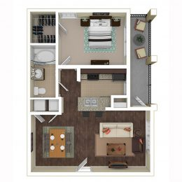 Bell Frisco at Main A1B Floorplan