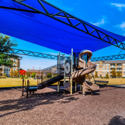 Playground with sun shade